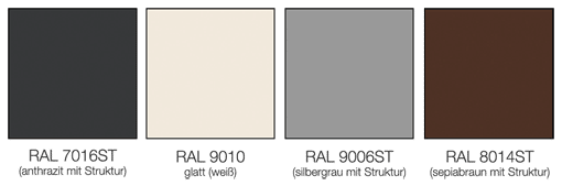 Standardfarben Überdachungen